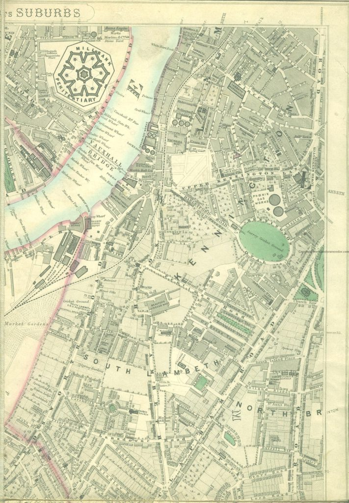 Map of London, 1862 - 1871 by Edward Stanford