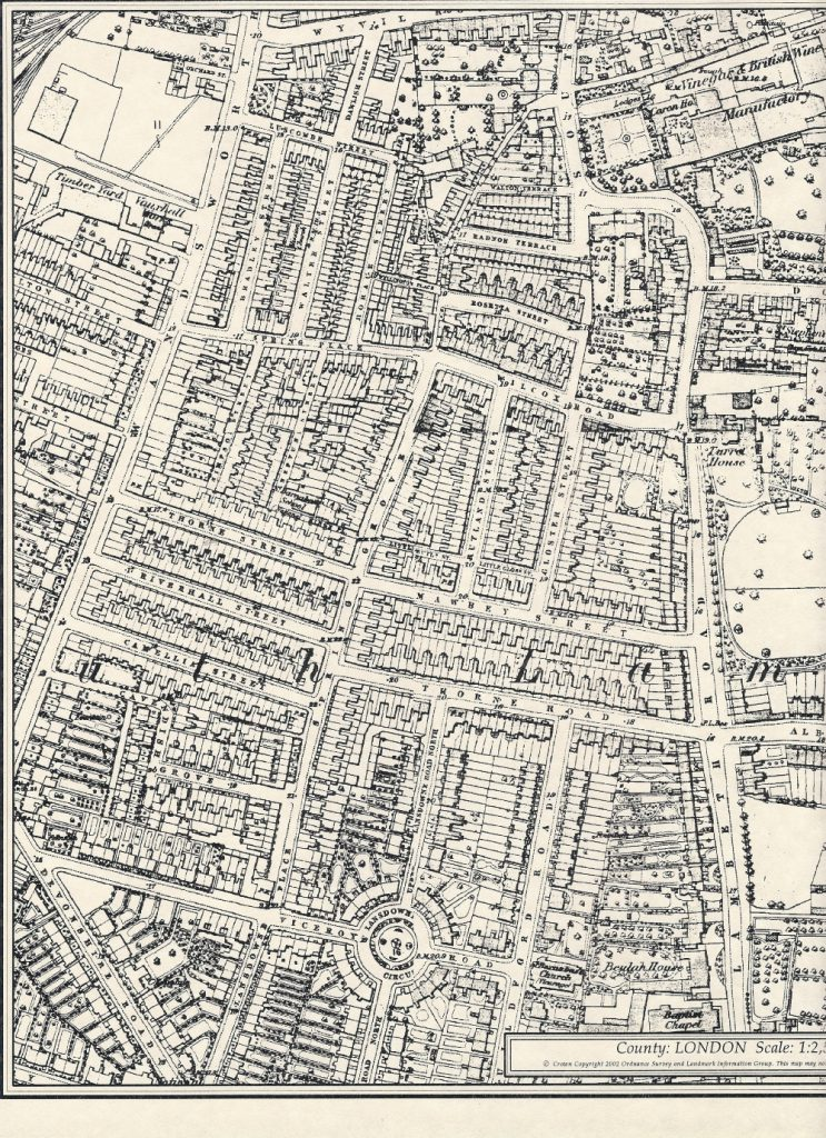 1874 Ordnance Survey map