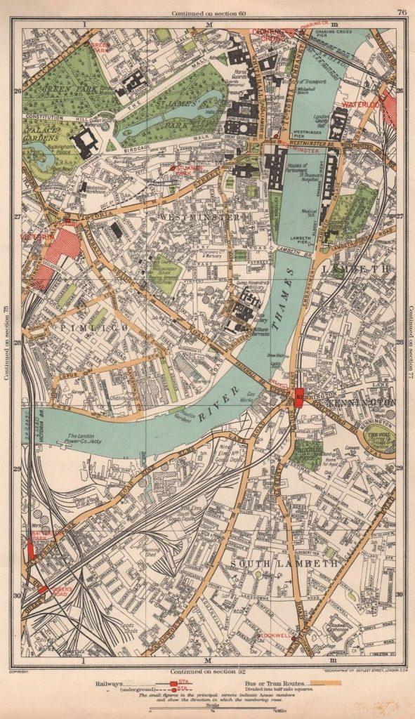 1933 A-Z of London