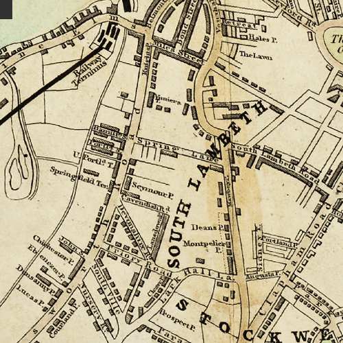 1848 London Low Life map